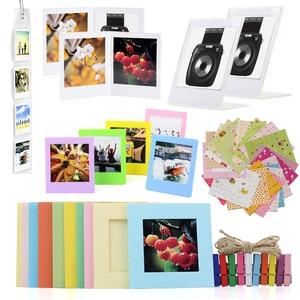 Image 1 - ملحقات كاميرا حزمة ل Fujifilm Instax مربع SQ20/SQ10/SQ6/SP 3 حزمة من الملصقات ، جدار شنق الإطار ، مكتب الإطار