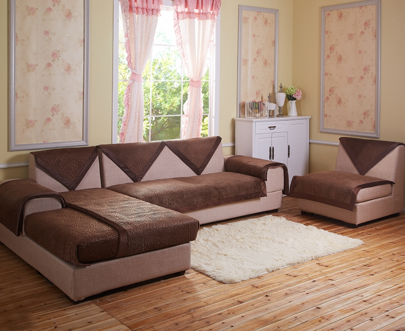 Velvet Fabric Sofa Brown Decorative Sofas Covers Double Sectional Modern Sofa  Slipcover 100 2 Seater Sofa Armchair Covers In Mattress Covers U0026 Grippers  From ...