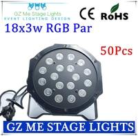 50pcs Lot Fast Shipping American DJ Mega Tri Par Profile Bright Stage LED Wash Light RGB
