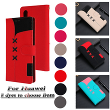 P20Lite Leather Case for Huawei P20 P30 Mate20 Lite Pro Cover Pu Classic Color Matching Flip Wallet