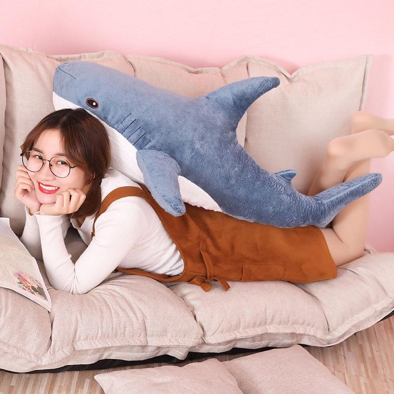 100 cm peluche jouet rempli de requin enfants oreiller lecture Animal oreiller cadeau d'anniversaire animaux oreillers