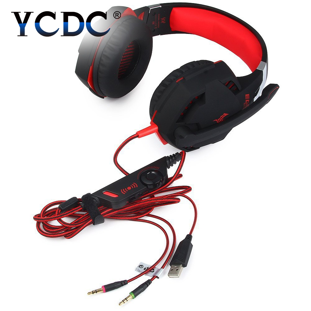 YCDC TOP Wired Headphone Stereo Sound Earphone Adjustable Pro Gaming Headset With Mic 3.5mm Audio Cable For Desktop PC Gamer LOL original each g4000 pro gaming headset stereo sound 2 2m wired headphone noise reduction fone with microphone for phone pc gamer