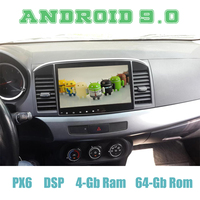 PX6 10.2 Android 9.0 Car GPS Radio Player for mitsubishi Lancer ex 10 Galant EVO with DSP 4+64GB Auto Stereo Multimedia