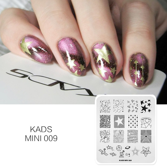 Kads Starry Sky Nail Art Stamp Template Star Moon Design Manicure