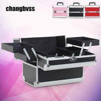 Portable Makeup Organizer Large Capacity Cosmetic Storage Box For Travel organizador Profession Make up Storage Box Rangement