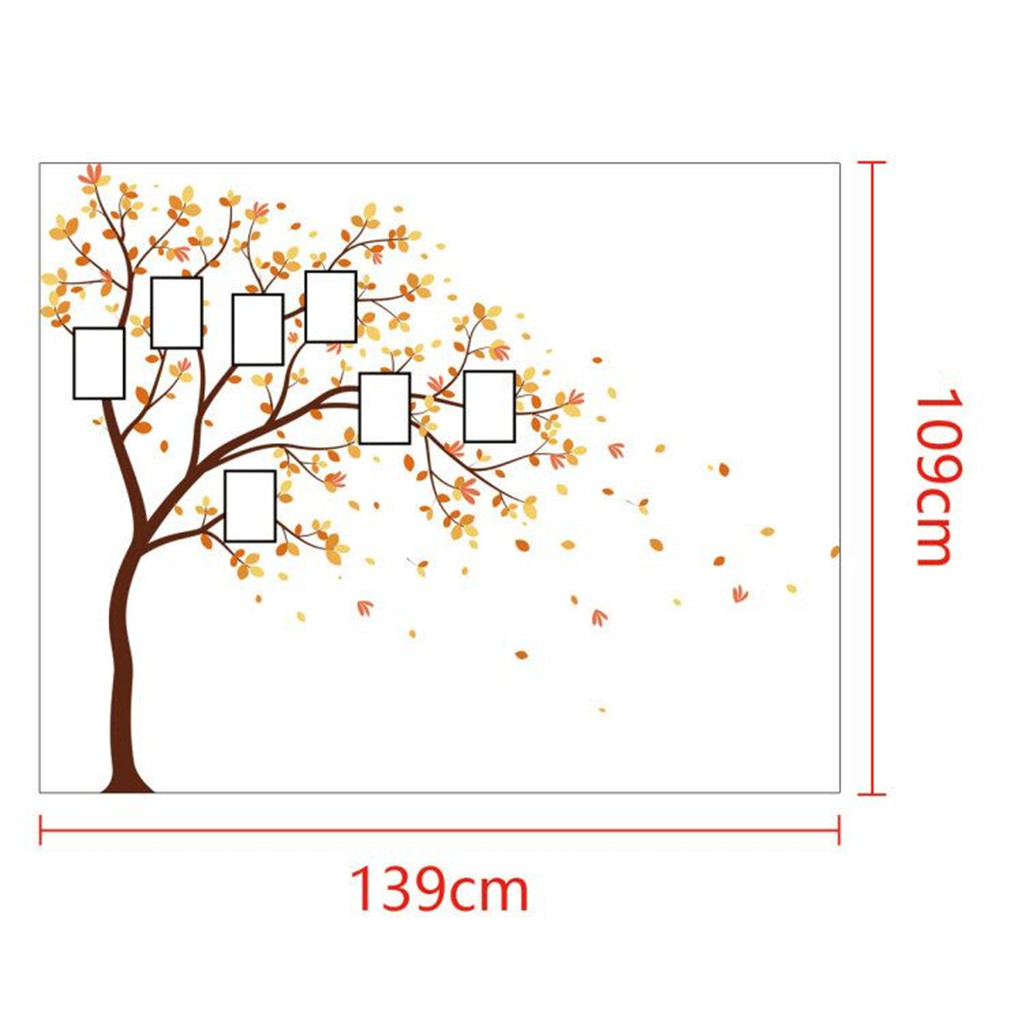 Image 5 - Family Photo DIY Photo Tree Mobile Creative Wall Affixed With Decorative Wall Stickers Window DecorRoom Bedroom Decals Posters-in Wall Stickers from Home & Garden