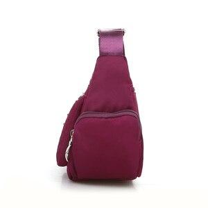 Image 3 - ファッション 6 ジッパーダイヤモンド格子柄の女性のメッセンジャーバッグの高品質防水ナイロンマルチポケットクロスボディバッグ