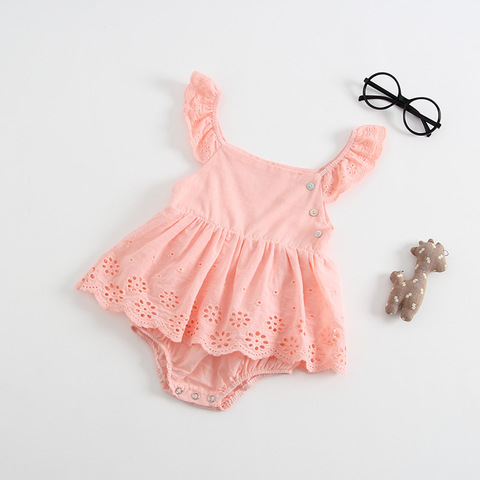 Baby Girl Clothes Summer Sleeveless Newborn Baby Dress Cotton Lace Infant Romper Style  Dress For Girls Princess Baby Clothes Islamabad