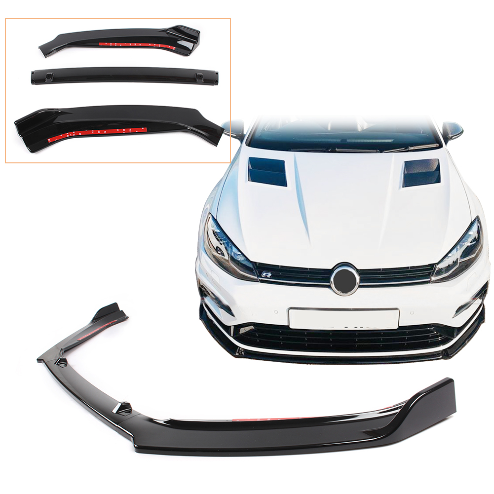 Передний бампер спойлер для Volkswagen Golf 7,5 7 2014 2015 2016 2017 ABS пластик глянцевый черный авто аксессуары MK7 MK7.5