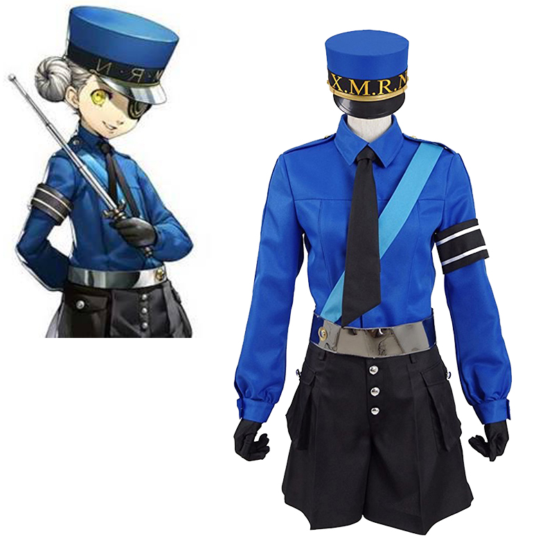 Cosplaydiy Persona 5 Twin Prison Wardens Caroline and Justine School Uniform Suit P5 Costume Any Size L320