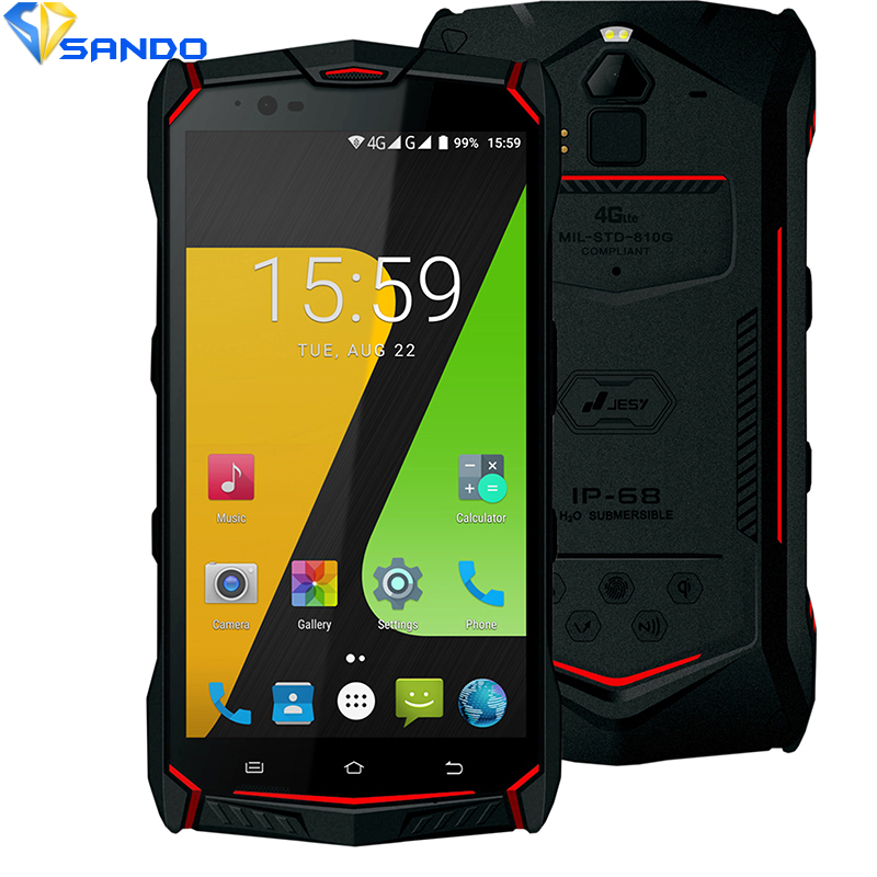 JESY J9 Waterproof new mobile phone IP68 4G Shockproof Phone 4G RAM 64GB ROM Smartphone 5.5 NFC Fingerprint PTT IP67 6150mAh