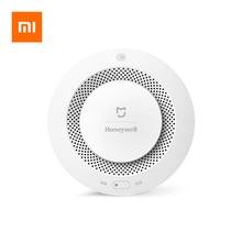 Mijia Youpin هانيويل كاشف الدخان جهاز إنذار حرائق كاشف التحكم عن بعد مسموعة إنذار بصري إخطار العمل مع Mi Home APP