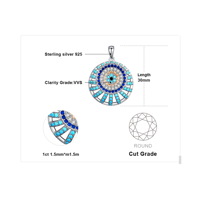 Blue Turquoise Spinel Pendant