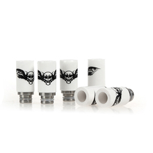 Sailing vape 510 ceramic drip tips electronic cigarette accessories Skull Style Stainless core for 510 tank atomizer