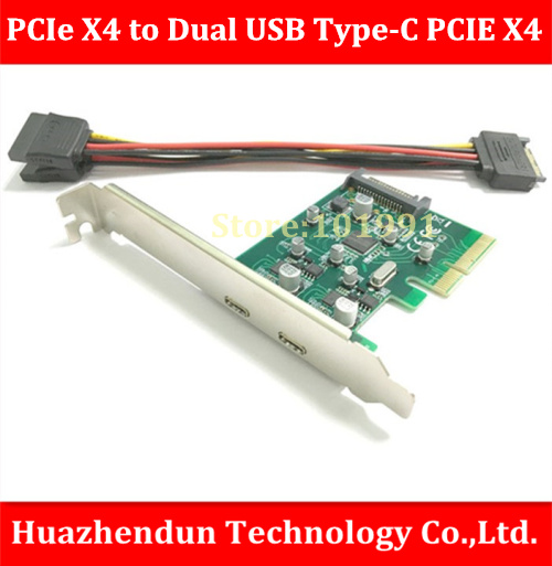 New Arrivals  PCI-e X4 to Dual USB Type-C PCI-E X4 Expression Card For Mac Pro 4.1-5.1 , OSX10.9 or later кабель питания 20 shippment mac pro g5 mac 6pin 2 pci e 6pin 4500 gtx285 hd4870 hd5770 gtx285