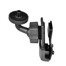 XBERSTAR 360 stopni kask boczny uchwyt mocowany na klips dla Gopro/SJCAM/SJ4000/XIAOMI YI/dla Sony AEE kamery sportowe akcesoria