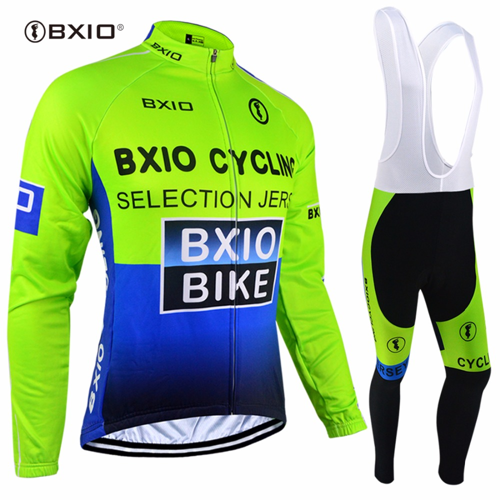 Winter Thermal Fleece Cycling Clothing Long Sleeve Cycling Jersey MTB Bike Jerseys Men's Pro Bicycle Clothes Bike Wear BXIO 004 цена