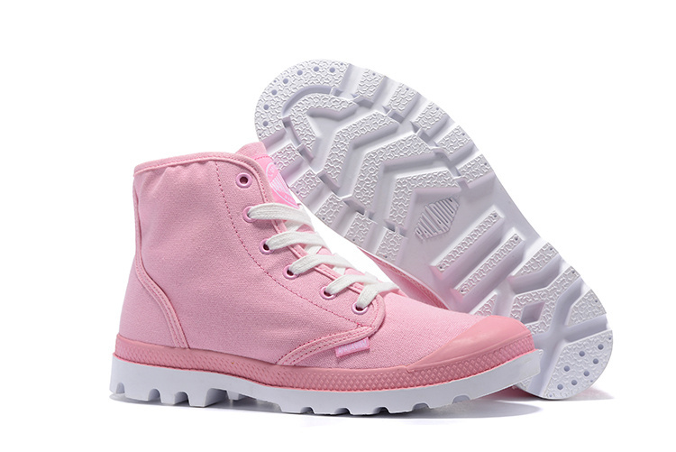 US $52.7 15% OFF|PALLADIUM Women 2017 Mid Pampa Sneakers Soldiers Boots Canvas Ankle Boots Parlatan Shoes Anti Skid Rubber Sole Size 36 39|palladium