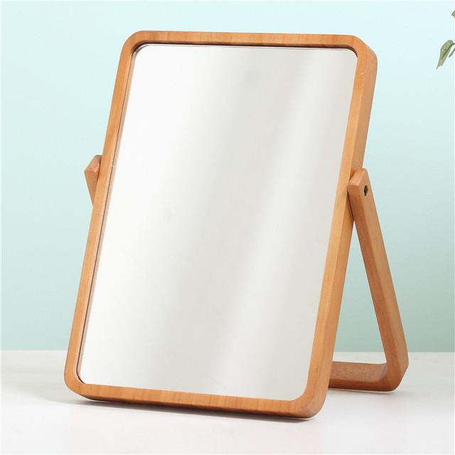 Mesa de pino Simple tamaño creativo HD espejo de tocador espejo de maquillaje portátil sola Princesa Europea