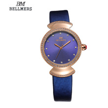 Relogios femininos relojesBELLMERE classic ladies watch waterproof watch women's luxury clock ladies wristwatches Dress watches