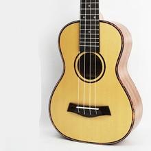 SevenAngel 23 inch ukulele Spruce Mahogany Acoustic Guitar 4 strings Electric ukelele with pickup EQ red