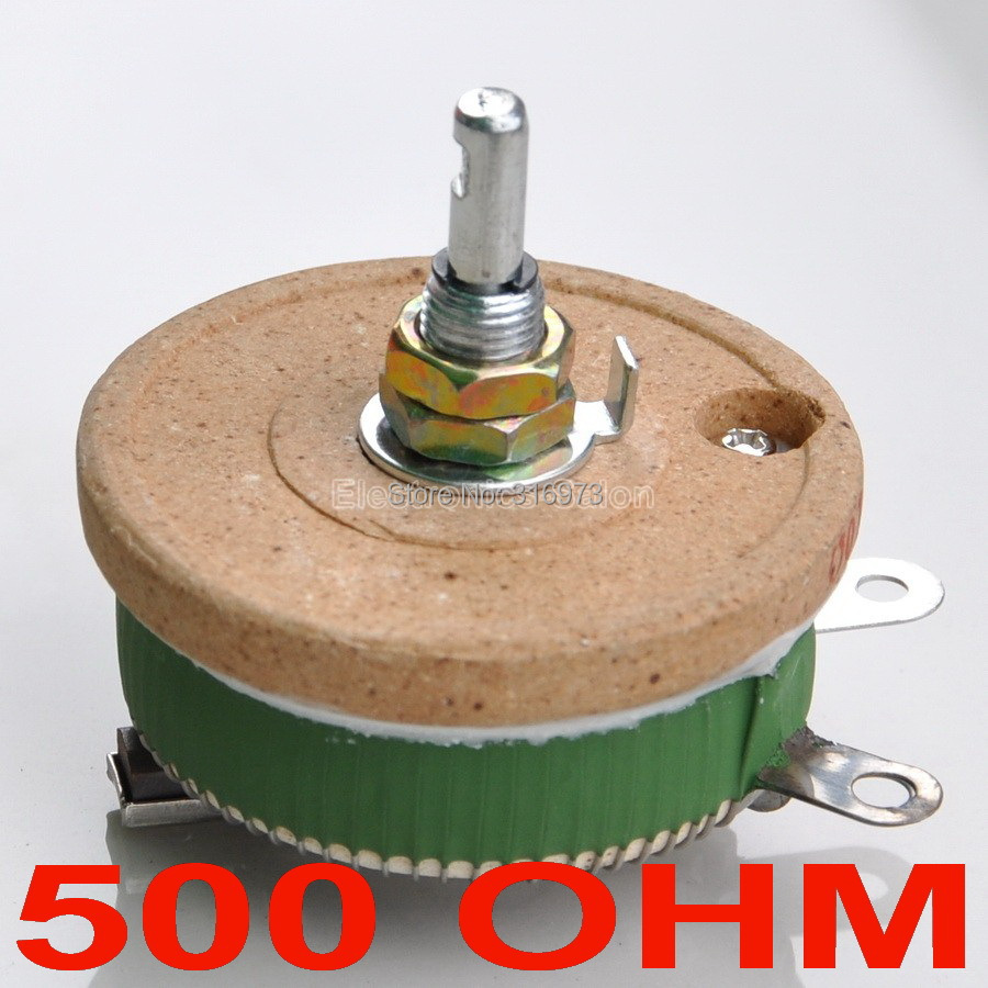 50W 500 OHM High Power Wirewound Potentiometer, Rheostat, Variable Resistor, 50 Watts.50W 500 OHM High Power Wirewound Potentiometer, Rheostat, Variable Resistor, 50 Watts.