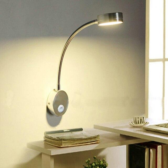 Led Reading Light 5w Bedroom Wall Lamps Bedside Hoses Adjule Desk Lamp Flexible Indoor Book