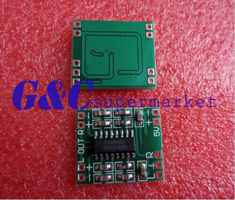 1PCS 2.5-5V <font><b>2X3W</b></font> Mini Audio Class D <font><b>amplifier</b></font> board image