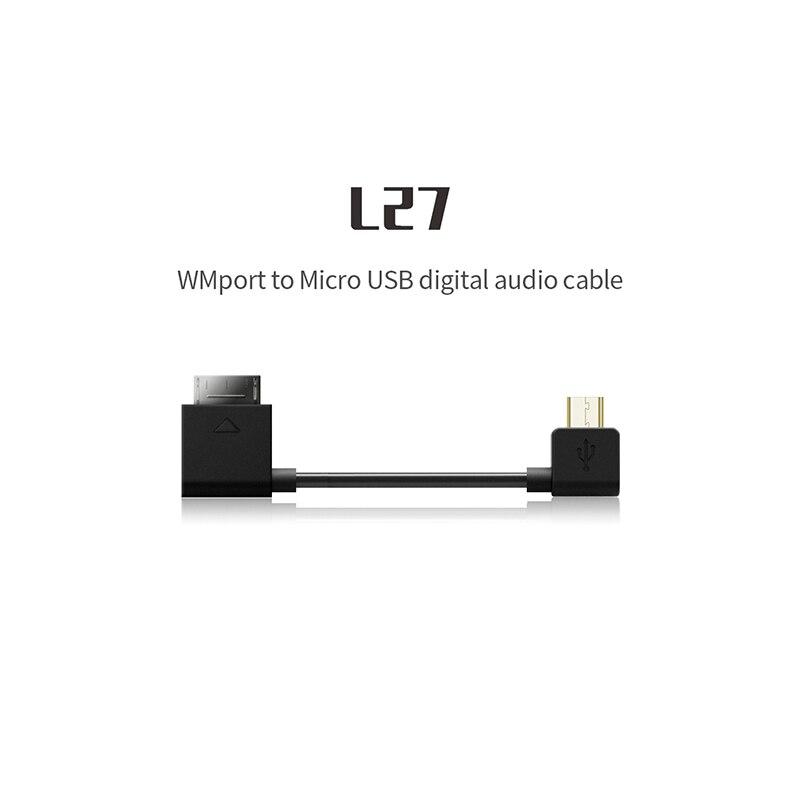 FIIO L27 WMport To Micro USB Digital Audio Cable For SONNY ZX300A Q1 Mark II Q5