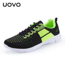 UOVO Men's Sports Shoes Spring & Autumn Lace-Up Light Runing Shoes Mesh Breathable Men's Sneakers
