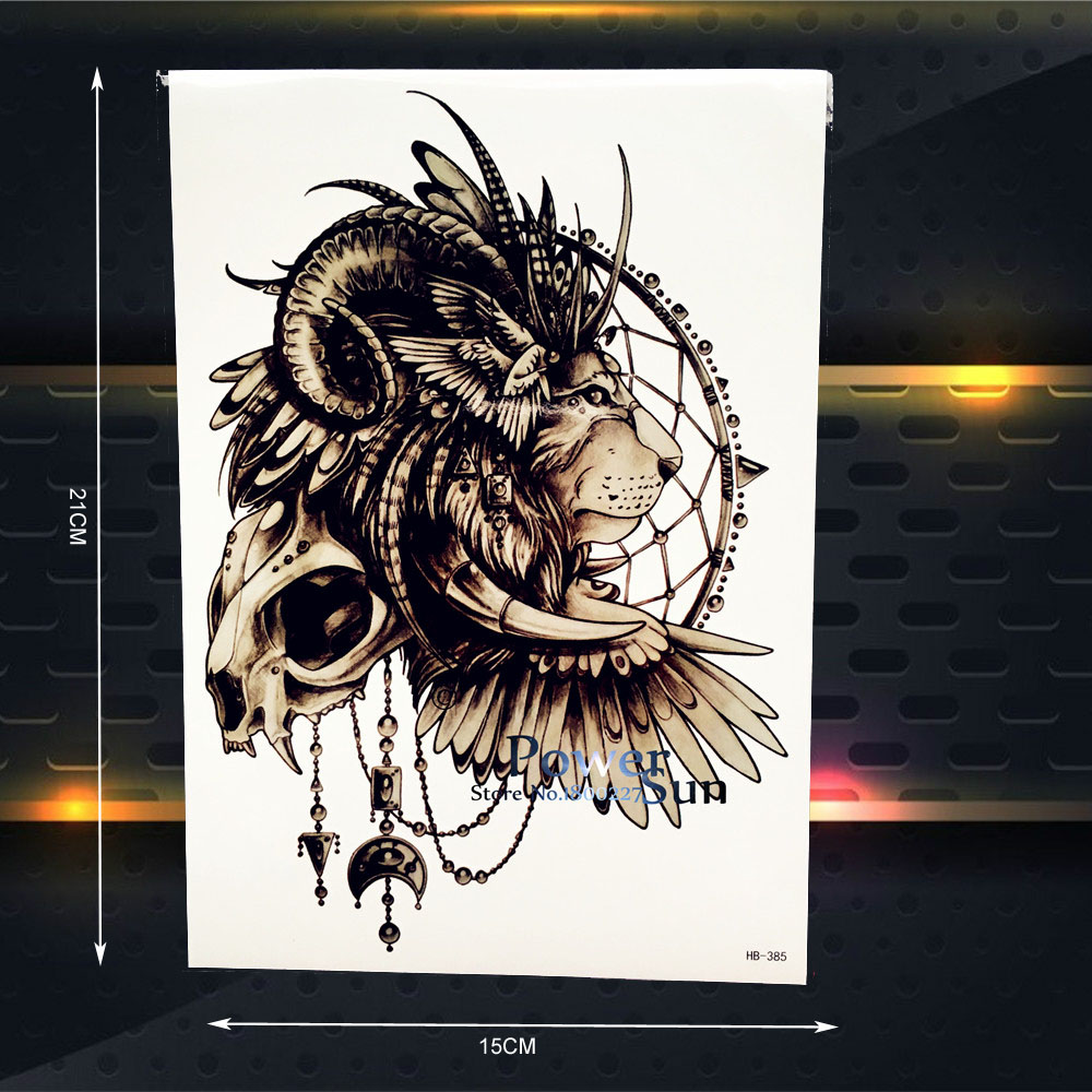 Online Shop 25 Style Symbol Of Power Monarch Temporary Tattoo Men