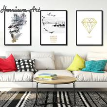 Nordic Abstract Art Seagull Animal Poster And Diamonds Poster Modern Minimalist Wall Art Poster for Home Decoration постер poster art 50305025 мдф
