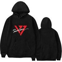 SEVENTEEN Autumn New hoodies kpop seventeen printing hooded sweatshirt female Fans Fashion Pullover Hoodies streetwear clothes