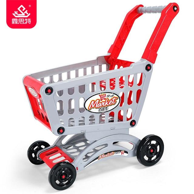 f3839cc3153a Nuevos niños de gran tamaño carritos de compras de plástico juguetes de  simulación Carro de supermercado