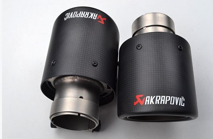 Introduceți 63 mm la ieșire 101mm Vârf de evacuare din carbon - Piese auto - Fotografie 5