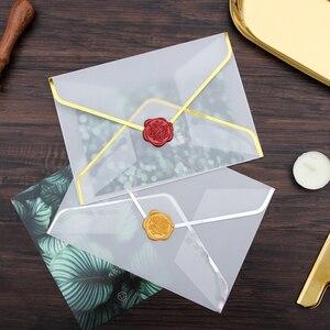 Image 3 - 20 pz/set di Stampaggio A Caldo di Stampa Busta di Carta Trasparente Acido Solforico Busta di Carta di Nozze Lettera di Invito Anniversario