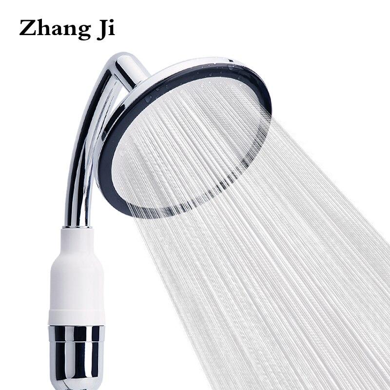 ZhangJi de filtración de agua de ducha multifunción cascada ronda boquilla de la ducha de baño de acero inoxidable accesorio de la ducha