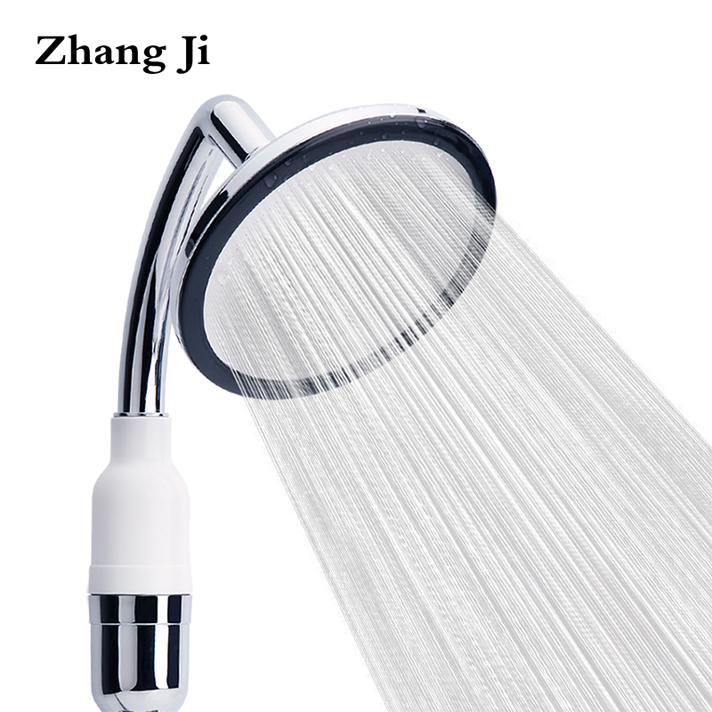 Zhang Ji de Filtragem De poupança de Água Chuveiro Multifuncional Bocal Do Chuveiro Cachoeira Rodada Dispositivo Elétrico de Banheiro de Aço Inoxidável Chuveiro