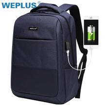 Multifunction computer USB charging 15.6 inch Laptop Backpack men School Bag  Large Capacity Casual Style Water 41dd74a201a1c