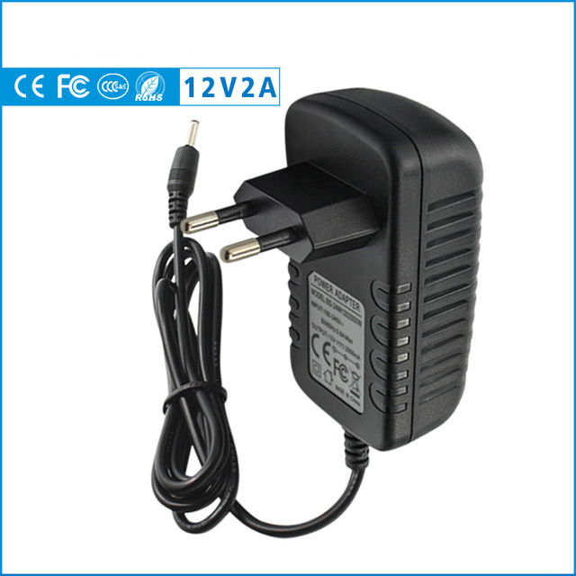 12V 2A 2000mA US EU Plug 5.5mm X 2.1mm 100-240V AC To DC Power Adapter Supply Charger Charging Adapter For LED Strip Lamp Switch