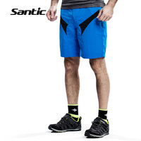 Santic Men's Loose Cycling Shorts Removable Underwear Coolmax 4D Padded Bicycle Downhill DH Shorts MTB Mountain Bike Shorts