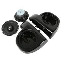 6 1 2 Audio Speakers W Glove Box For Harley Touring Lower Fairing FLHT FLHX 2014