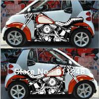 Мотоцикл 3d Игрушечная машина наклейки, двери струйных шокер эмблемы, внешние аксессуары ремонт, Crowne KK материалы, 2 шт.