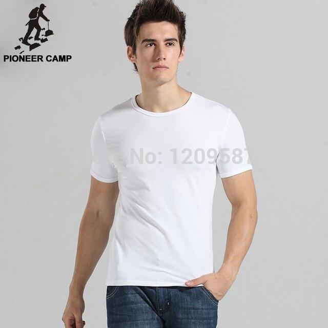 Pioneer Camp 2017 summer men t shirt short sleeve brand fashion white basic o-neck casual elasticity cotton shirt activity