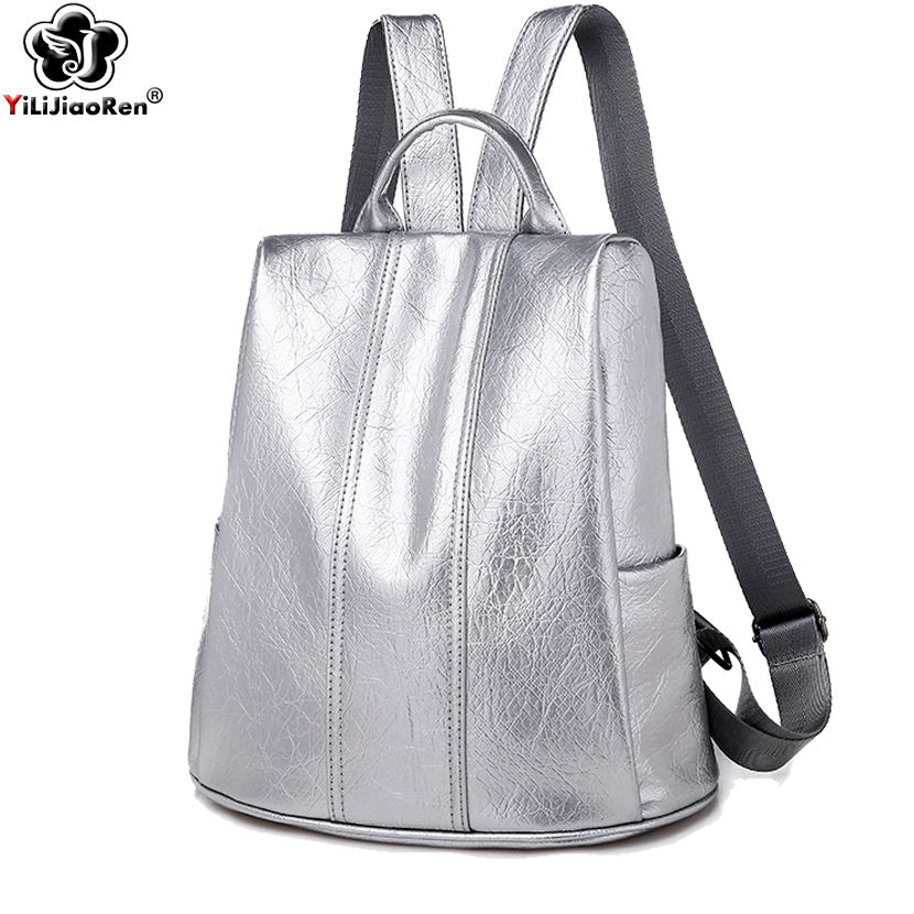 2019 Casual Backpack Female Brand Leather Backpack Women Large Capacity Bookbag School Bags For Teenage Girls Mochila Sac A Dos