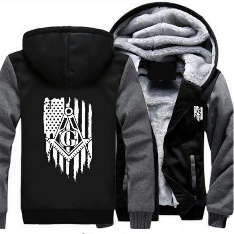 US $37 92 21% OFF|Personality Fashion American Flag Masonic Coat Casual  Printing Hooded Zipper Hoodies Autumn Winter Mens Jackets-in Jackets from