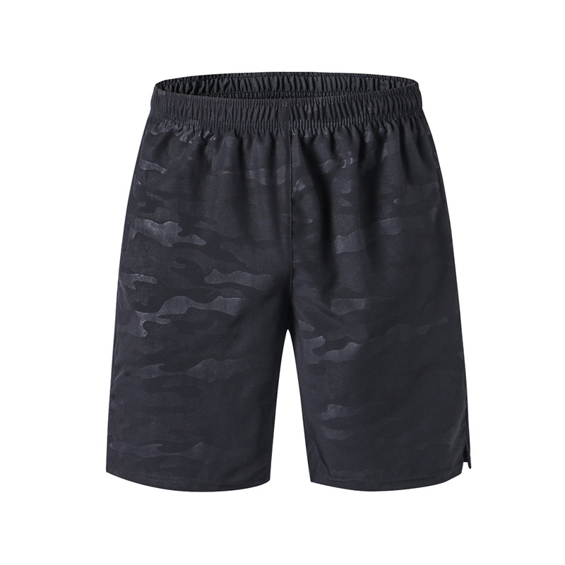 Men's Running Shorts With Reflective Logo Jogging Sports Clothing GYM Fitness Outdoor Loose Training Shorts With Zipper Pocket