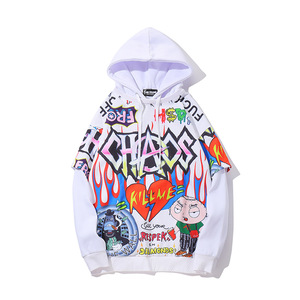 Image 2 - Hip Hop Graffiti Hoodie Men Fleece Pullover Harajuku 2019 Autumn Winter Fashion Casual Purple Streetwear Sweatshirt Male HZ025