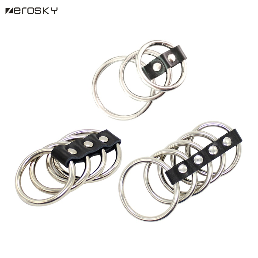 Three lock elastic scrotal binding cock ring sex toys silicone penis ring delay cage