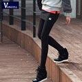 2016 Nuevas Mujeres de Invierno Legging Polainas Calientes mujeres de la Manera mini falda legging pantalones falsos dos piezas Calientes elásticos Flacas pantalones
